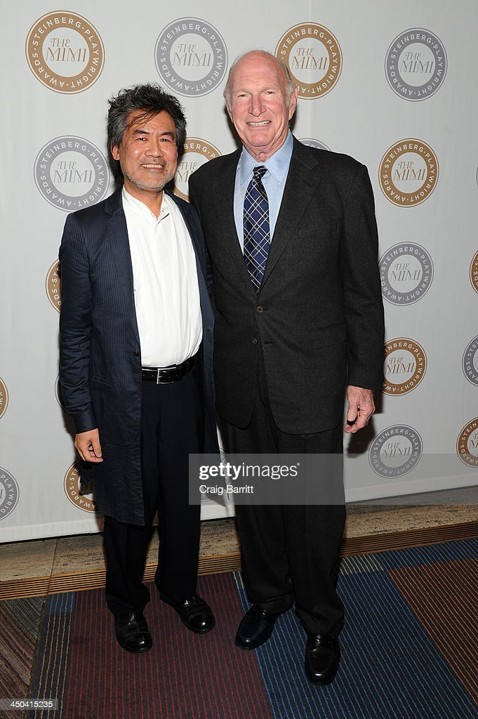 Playwright David Henry Hwang and Seth M. Weingarten attend The 2013 Steinberg Playwright 'Mimi' Awards presented by The Harold and Mimi Steinberg Charitable Trust at Lincoln Center Theater on November 18, 2013 in New York City.