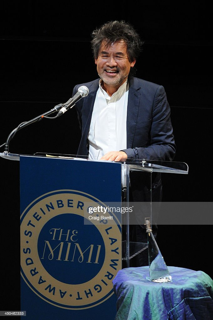 Playwright David Henry Hwang speaks onstage at The 2013 Steinberg Playwright 'Mimi' Awards presented by The Harold and Mimi Steinberg Charitable Trust at Lincoln Center Theater on November 18, 2013 in New York City.