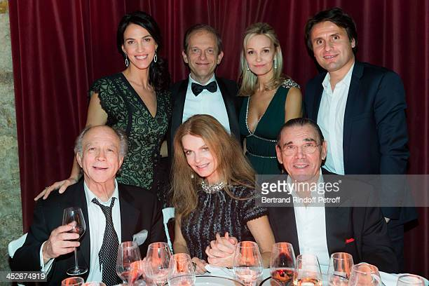 Playwright director and actor Daniel Colas actress Cyrielle Clair her husband Michel Corbiere former Miss France actress Linda Hardy Frederic...