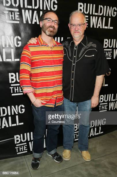 Playwright Doug Wright and David Clement attend the opening night of 'Building The Wall' at New World Stages on May 21 2017 in New York City