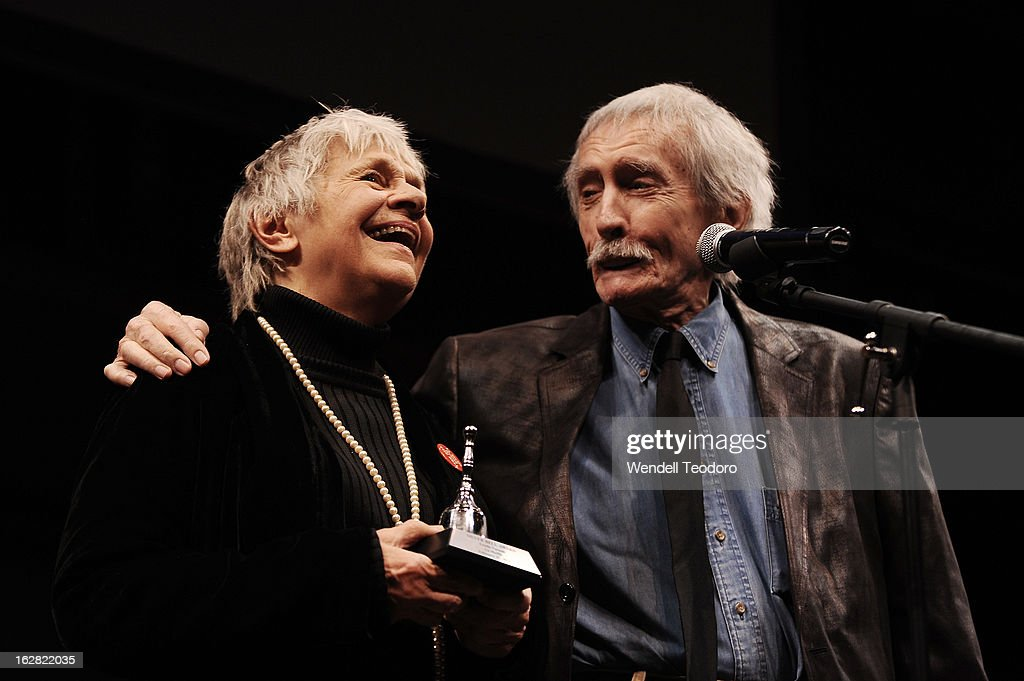 Playwright <a gi-track='captionPersonalityLinkClicked' href=/galleries/search?phrase=Edward+Albee+-+Playwright&family=editorial&specificpeople=220644 ng-click='$event.stopPropagation()'>Edward Albee</a> Honours Actress <a gi-track='captionPersonalityLinkClicked' href=/galleries/search?phrase=Estelle+Parsons&family=editorial&specificpeople=221565 ng-click='$event.stopPropagation()'>Estelle Parsons</a> (L) at the La Mama Celebrates 51 Gala at Ellen Stewart Theatre on February 27, 2013 in New York City.