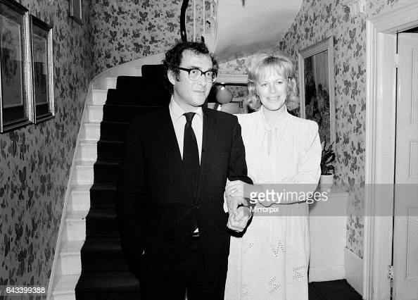 Playwright Harold Pinter and author Lady Antonia Fraser pictured together in the hallway of their house 9th October 1980 It was reported that the...