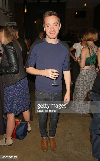 Playwright James Graham attends the press night after party for 'Against' at The Almeida Theatre on August 18 2017 in London England