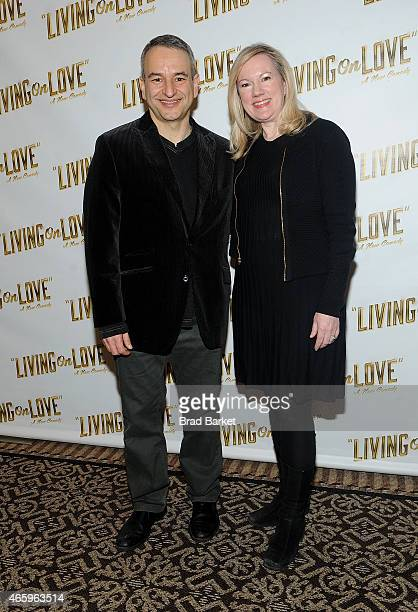 Playwright Joe Dipietro and Director Kathleen Marshall attend Broadway's 'Living On Love' Press Preview at Empire Hotel on March 12 2015 in New York...