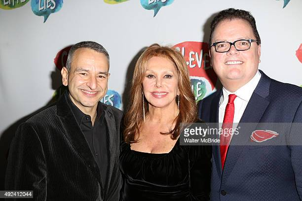 Playwright Joe DiPietro Marlo Thomas and director David Saint attend the OffBroadway opening night performance after party for 'Clever little Lies'...