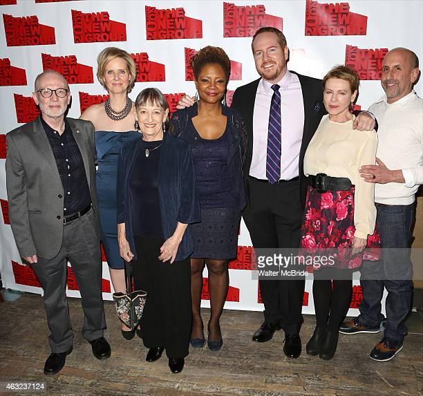 Playwright Joel Drake Johnson director Cynthia Nixon Patricia Conolly Tonya Pinkins Darren Goldstein Dianne Wiest and artistic director Scott Elliott...