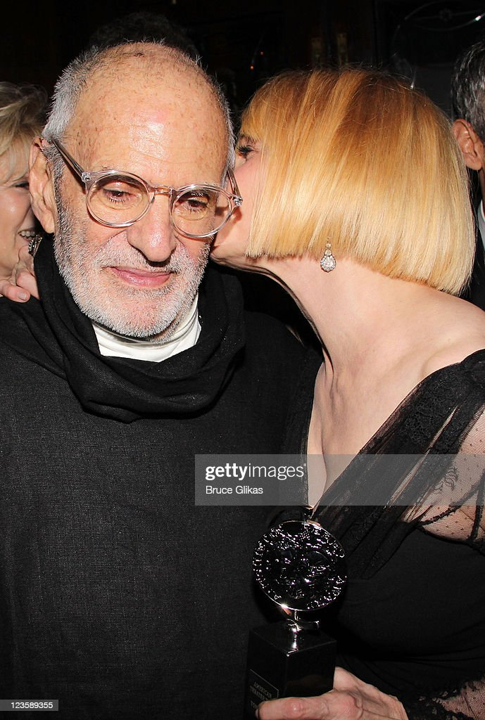 Playwright <a gi-track='captionPersonalityLinkClicked' href=/galleries/search?phrase=Larry+Kramer&family=editorial&specificpeople=224871 ng-click='$event.stopPropagation()'>Larry Kramer</a> and <a gi-track='captionPersonalityLinkClicked' href=/galleries/search?phrase=Ellen+Barkin&family=editorial&specificpeople=202496 ng-click='$event.stopPropagation()'>Ellen Barkin</a> attend 'The Normal Heart' After Party for The 2011 Tony Awards at the Amsterdam Ale House on June 12, 2011 in New York City.