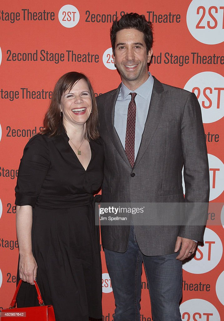 Playwright Laura Eason and director/actor <a gi-track='captionPersonalityLinkClicked' href=/galleries/search?phrase=David+Schwimmer&family=editorial&specificpeople=206148 ng-click='$event.stopPropagation()'>David Schwimmer</a> attend the 'Sex With Strangers' Opening Night after party at Four at Yotel on July 30, 2014 in New York City.