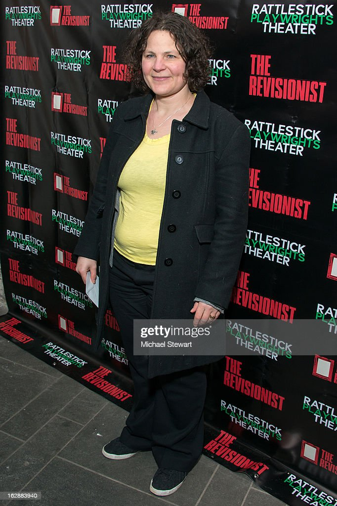 Playwright Lucy Thurber attends 'The Revisionist' Opening Night at Cherry Lane Theatre on February 28, 2013 in New York City.