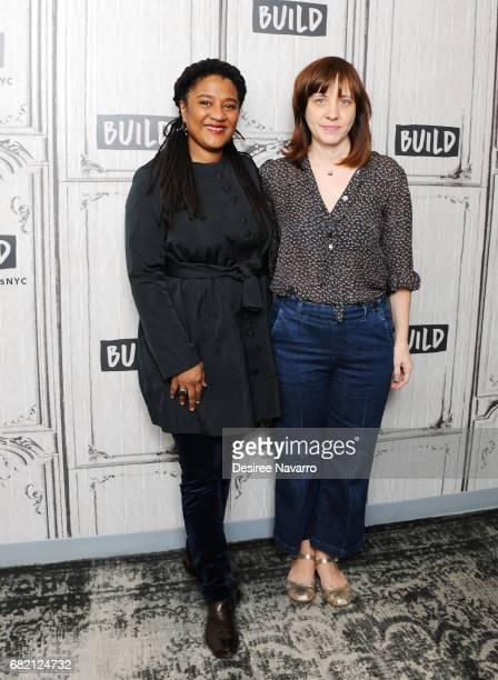 Playwright Lynn Nottage and director Kate Whoriskey attend Build to discuss the play 'Sweat' at Build Studio on May 11 2017 in New York City