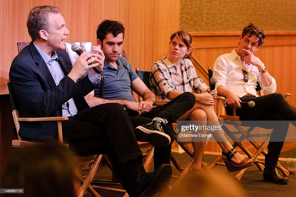 Playwright Rick Elice, actor Adam Chanler-Berat, actress Celia Keenan-Bolger and actor Christian Borle attend the 'Peter And The Starcatcher' Q & A and Autograph Signing at Barnes & Noble, 86th & Lexington on June 14, 2012 in New York City.