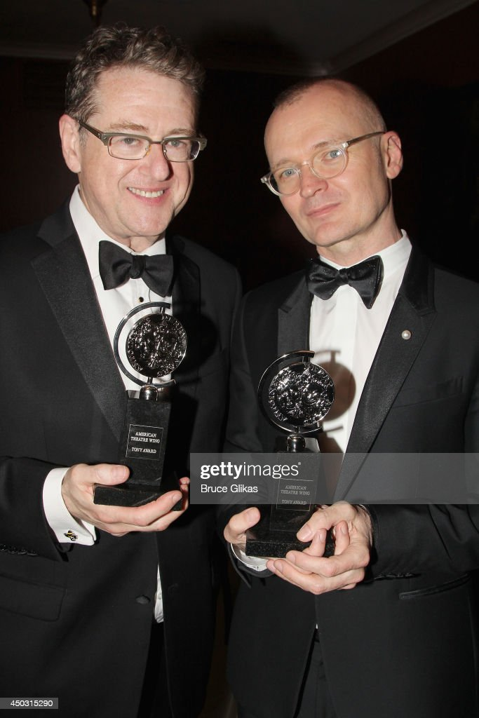 Playwright Robert L. Freedman, winner of the award for Best Book of a Musical for '?A Gentleman's Guide to Love & Murder' (L) and Director Darko Tresnjak, winner of the award for Best Direction of a Musical for 'A Gentleman's Guide to Love and Murder' pose in the press room during the American Theatre Wing's 68th Annual Tony Awards at Radio City Music Hall on June 8, 2014 in New York City.