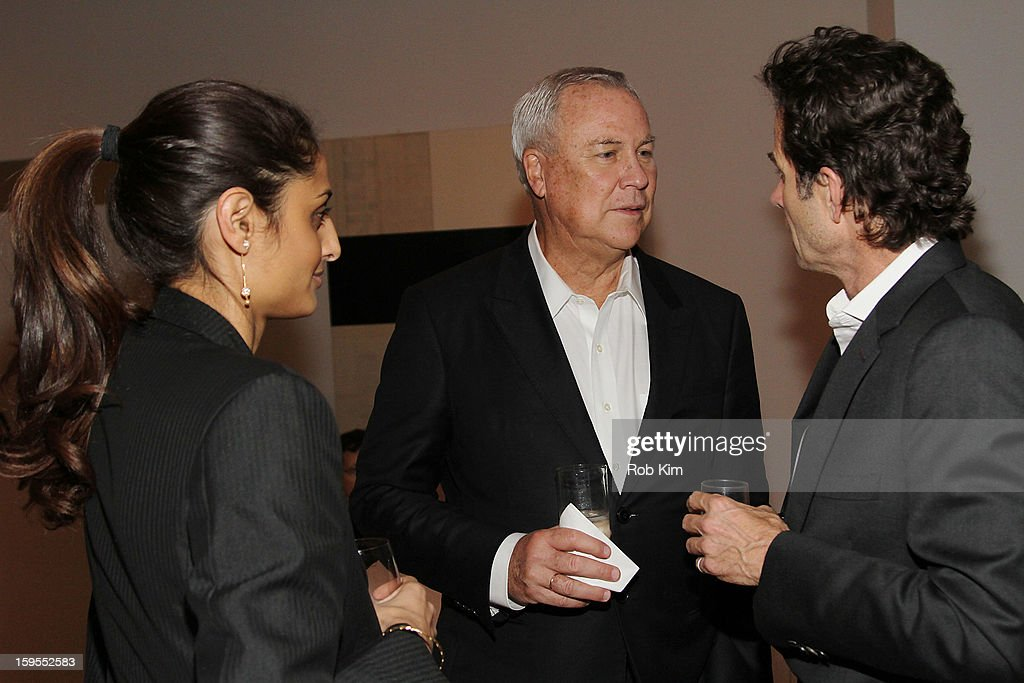 Playwright Robert Wilson (C) attends An Intimate Evening With The Contemporary Patrons Of The Watermill Center at 210 East 5 Street on January 15, 2013 in New York City.