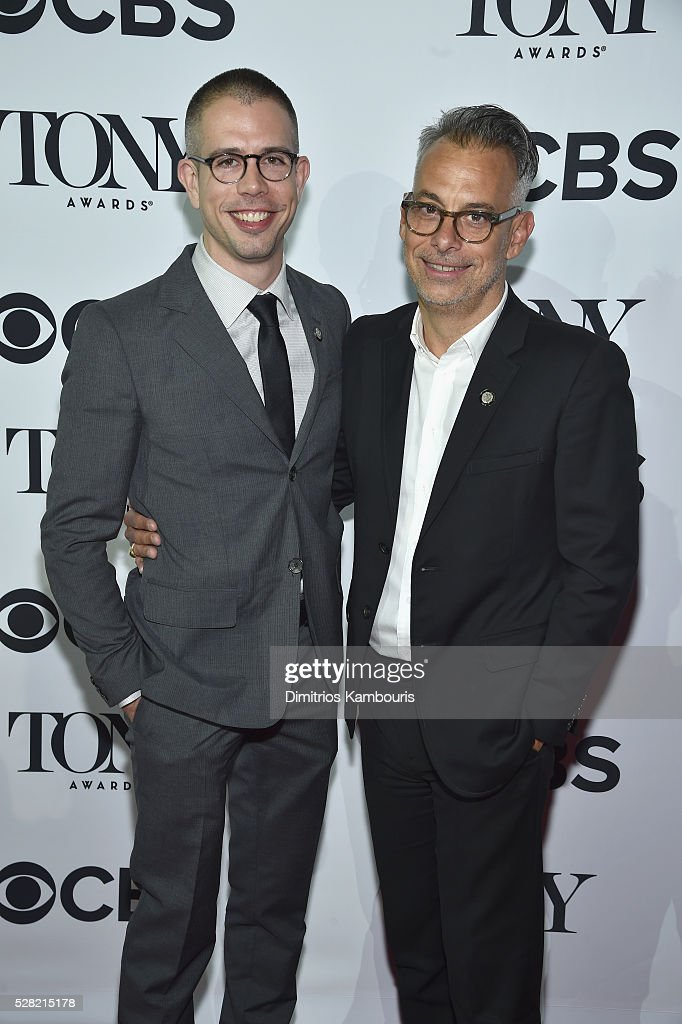 Playwright Stephen Karam (L) and Actor <a gi-track='captionPersonalityLinkClicked' href=/galleries/search?phrase=Joe+Mantello&family=editorial&specificpeople=233424 ng-click='$event.stopPropagation()'>Joe Mantello</a> attend the 2016 Tony Awards Meet The Nominees Press Reception on May 4, 2016 in New York City.