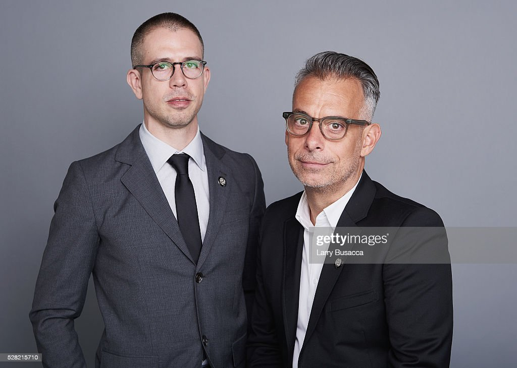 Playwright Stephen Karam (L) and Actor <a gi-track='captionPersonalityLinkClicked' href=/galleries/search?phrase=Joe+Mantello&family=editorial&specificpeople=233424 ng-click='$event.stopPropagation()'>Joe Mantello</a> pose for a portrait at the 2016 Tony Awards Meet The Nominees Press Reception on May 4, 2016 in New York City.