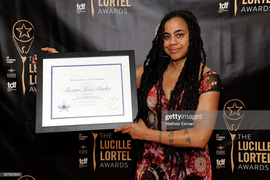 Playwright <a gi-track='captionPersonalityLinkClicked' href=/galleries/search?phrase=Suzan-Lori+Parks&family=editorial&specificpeople=3207908 ng-click='$event.stopPropagation()'>Suzan-Lori Parks</a> attends the press room for the 31st Annual Lucille Lortel Awards at NYU Skirball Center on May 1, 2016 in New York City.