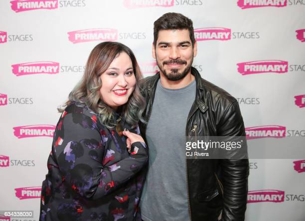 Playwright Tanya Saracho and Raul Castillo attend 'Fade' Broadway opening night at Mr Dennehyâ on February 8 2017 in New York Cit