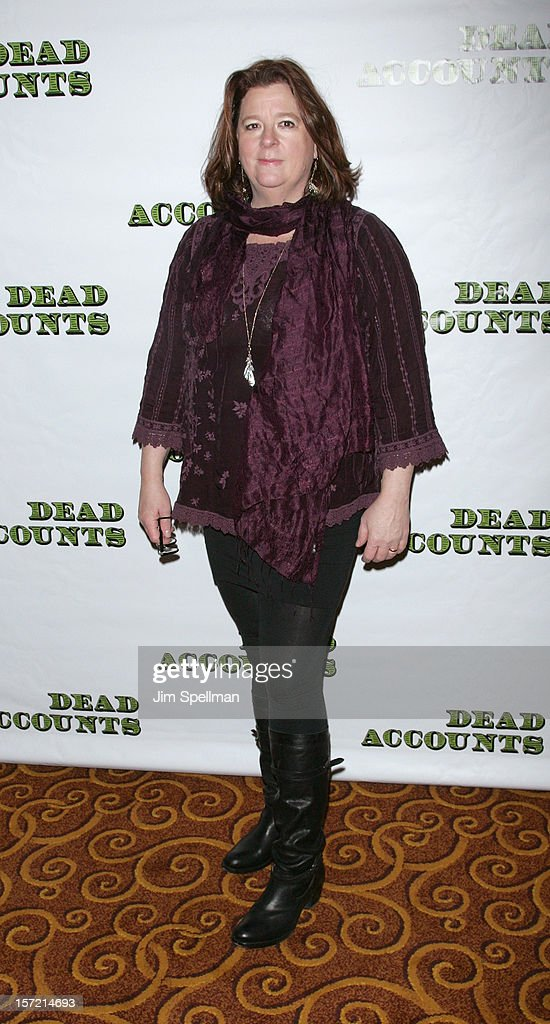 Playwright Theresa Rebeck attends 'Dead Accounts' Broadway Opening Night After Party at Gotham Hall on November 29, 2012 in New York City.