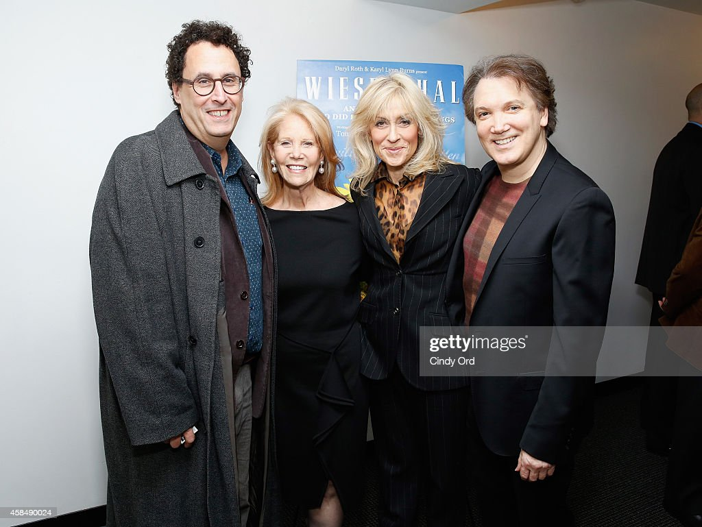 Playwright Tony Kushner Producer Daryl Roth actress Judith Light and actor/ playwright Charles Busch attend the opening night of 'Wiesenthal A New...