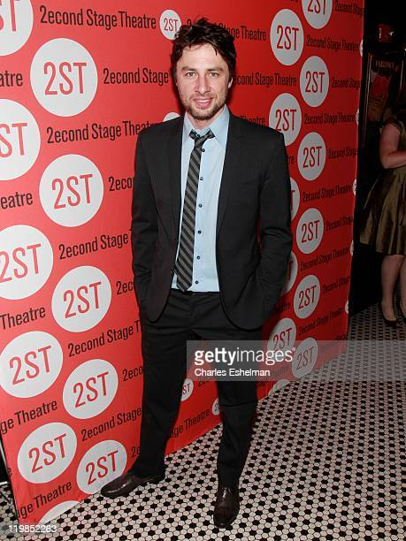 Playwright Zach Braff attends the 'All New People' opening night after party at HB Burger on July 25 2011 in New York City