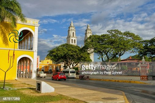 Plaza at the central historic district of Campeche