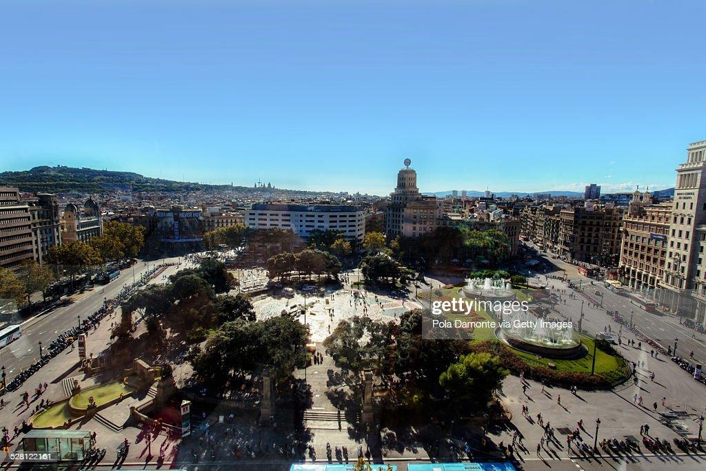 Plaza Catalunya, Barcelona, Spain.