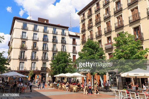 Plaza Chueca In Madrid Spain Stock Photo Getty Images