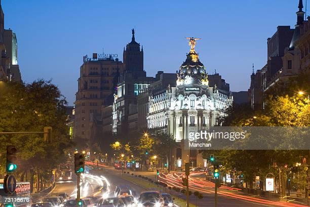 Plaza Cibeles, Spain, Madrid, traffic on road