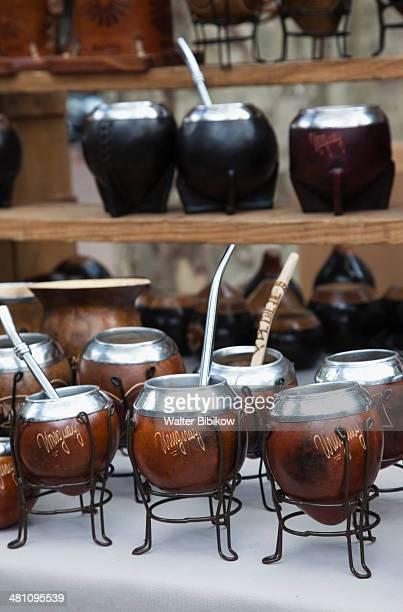 Plaza Constitucion flea market, Mate tea cups