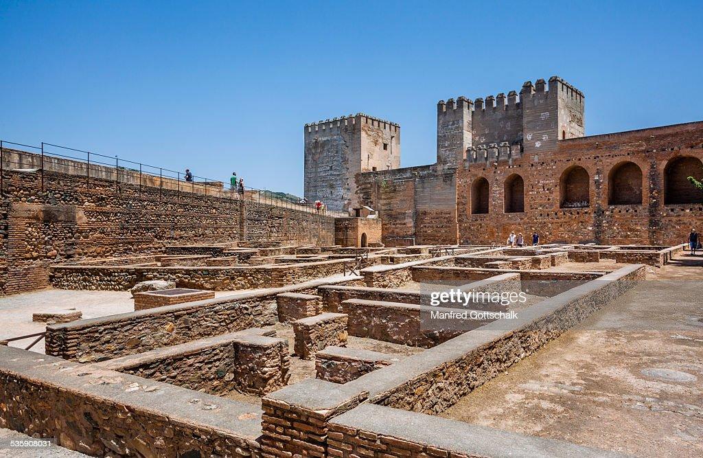 Plaza de Armas Alcazaba Granada : Foto de stock