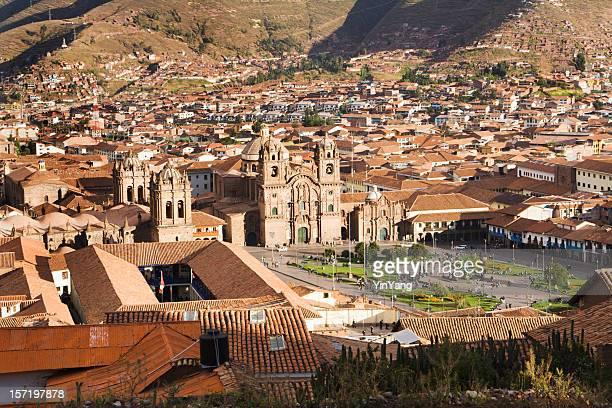 de de praça Armas de Cuzco, Peru, paisagens da América do Sul