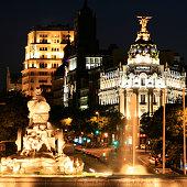 Plaza de Cibeles and Metropolis Building, Madrid
