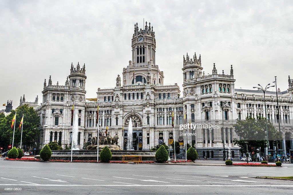 Plaza de Cibeles, Madrid, España : Foto de stock