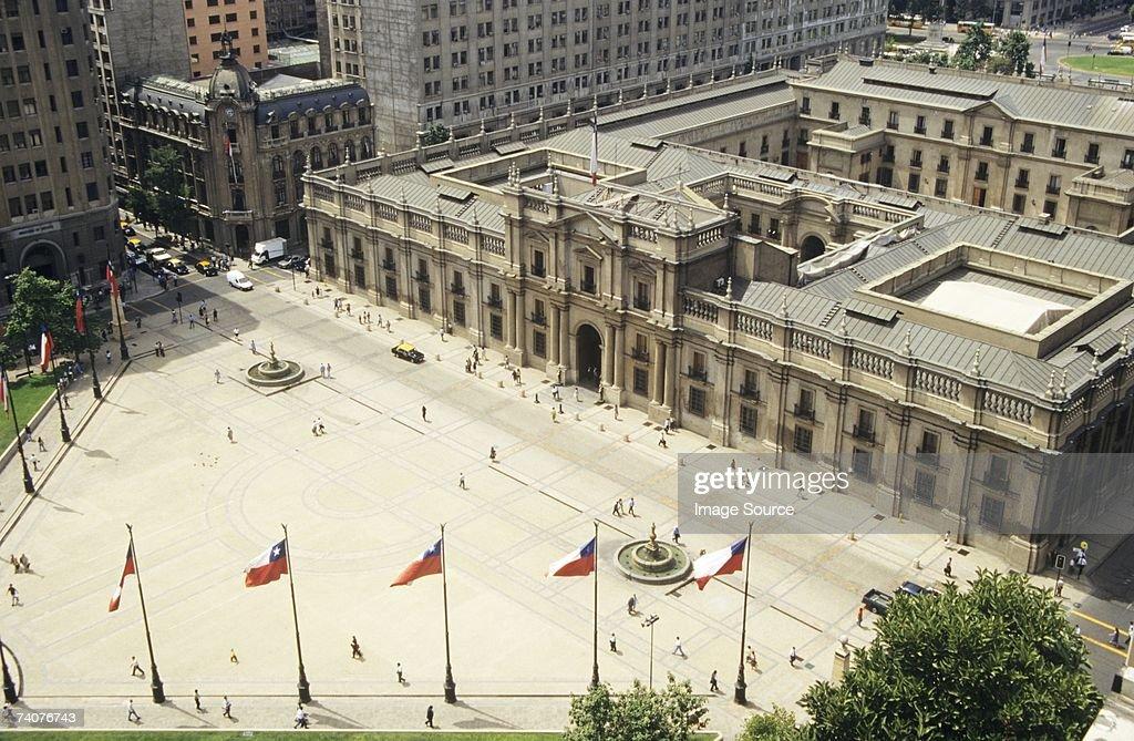 Plaza de la constitucion santiago de Chile : Stock Photo