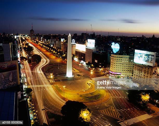 Plaza de la Republica at Night