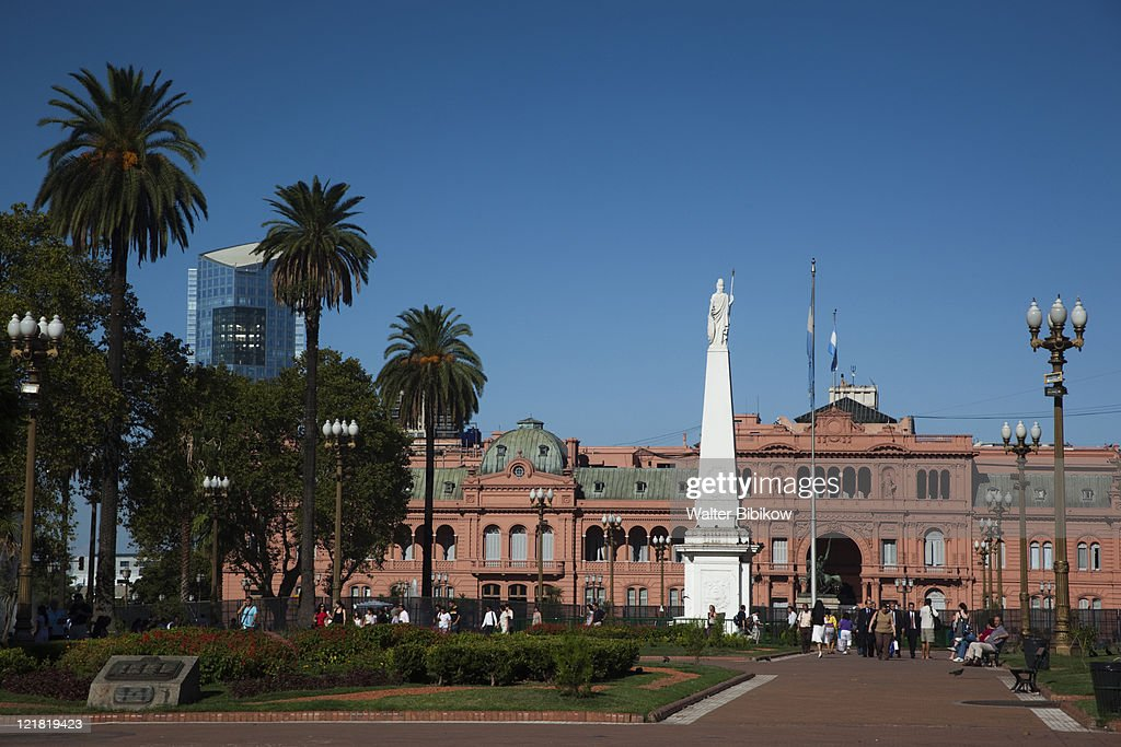 Plaza de Mayo and Casa Rosada presidential palace, Buenos Aires, Argentina
