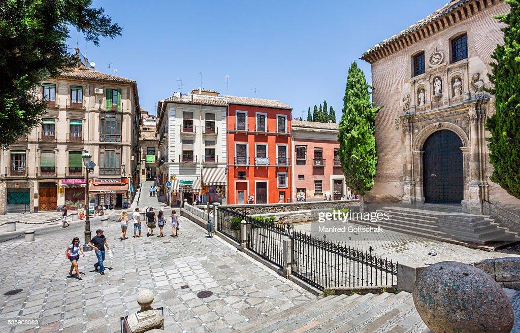 Plaza de Santa Ana Granada : Stock-Foto
