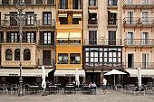 Plaza del Castillo in Pamplona, Spain