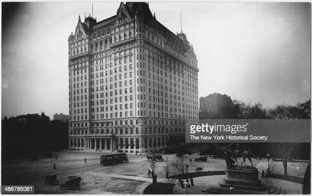Plaza Hotel New York New York 1895 Statue of Sherman at 59th Street and the entrance to Central Park visible