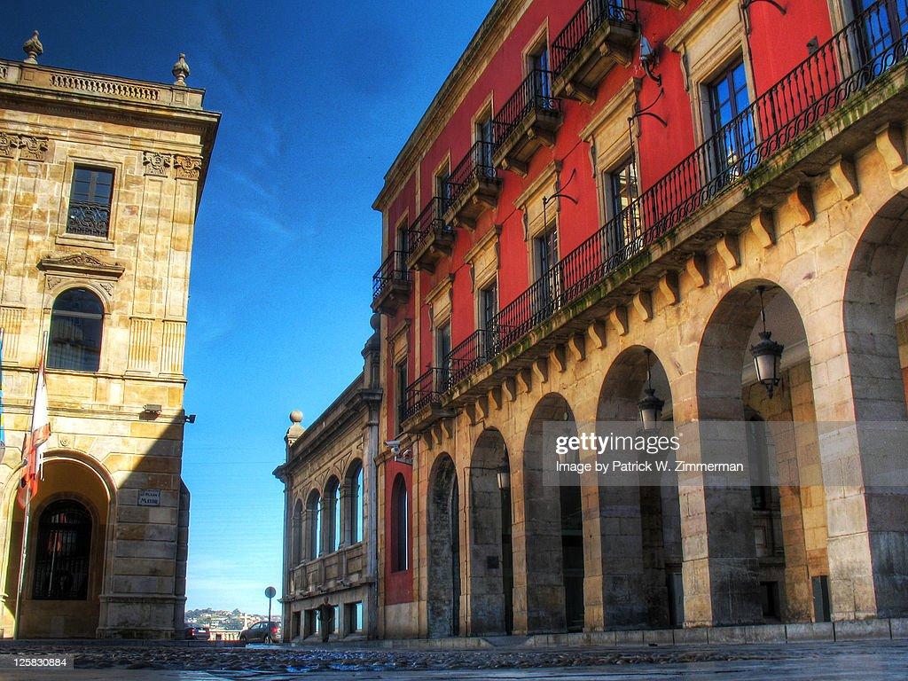 Plaza Mayor, Gijon : Stock Photo
