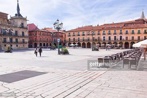 Plaza Mayor in Leon, Spain