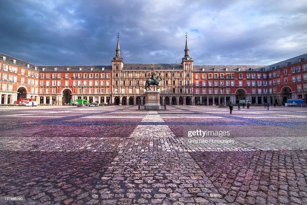 Plaza Mayor in Madrid at sunrise