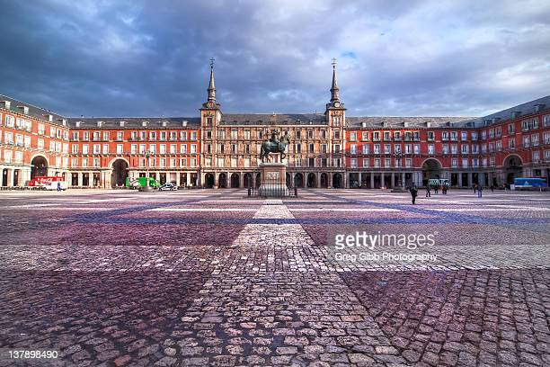 Plaza Mayor Madrid Foto e immagini stock  Getty Images