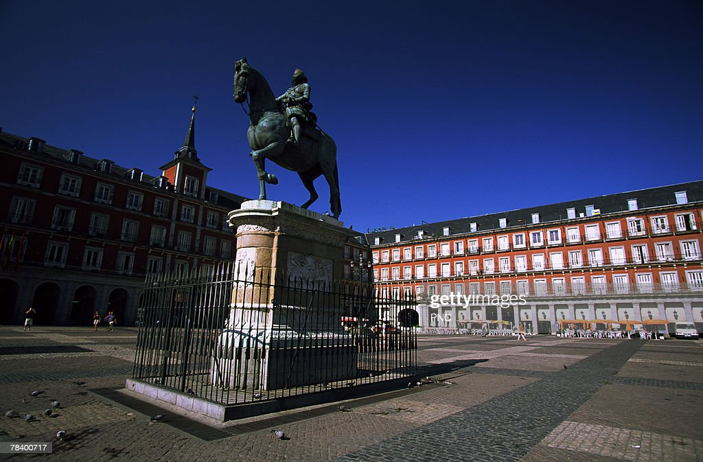 Plaza Mayor in Madrid : Stock Photo