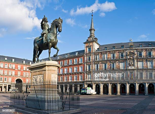 Plaza Mayor de Madrid en amanecer