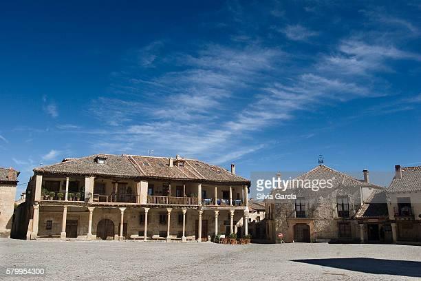 Plaza Mayor, Pedraza, Segovia, Castilla y Leon.