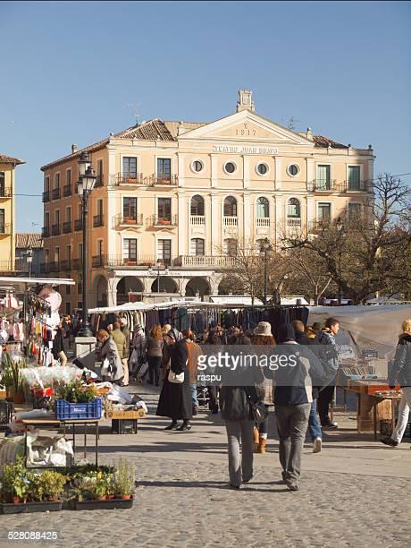 Plaza Mayor square in Segovia