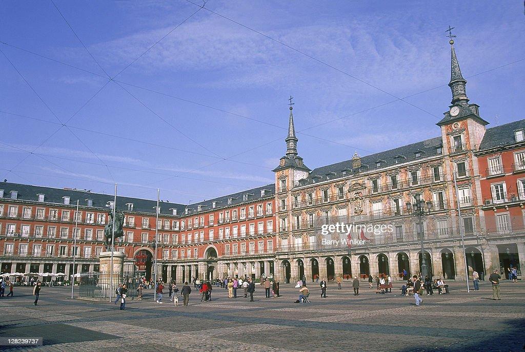 Plaza Mayor with Casa de la Panaderia, Madrid, Spain