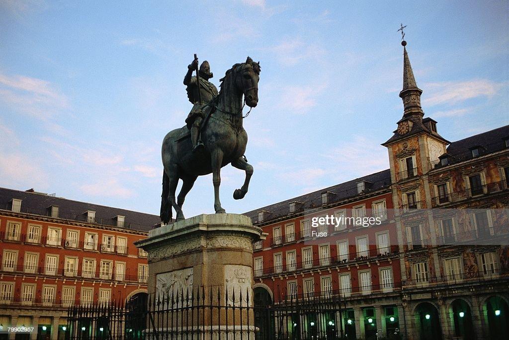 Plaza Mayor with Equestrian Statue of Filipe III