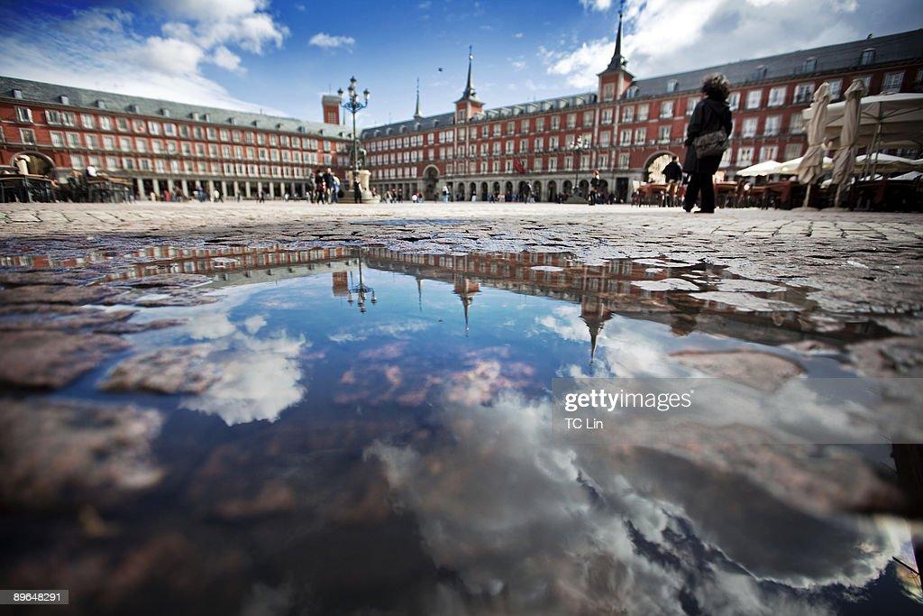 Plaza Mayor with reflection